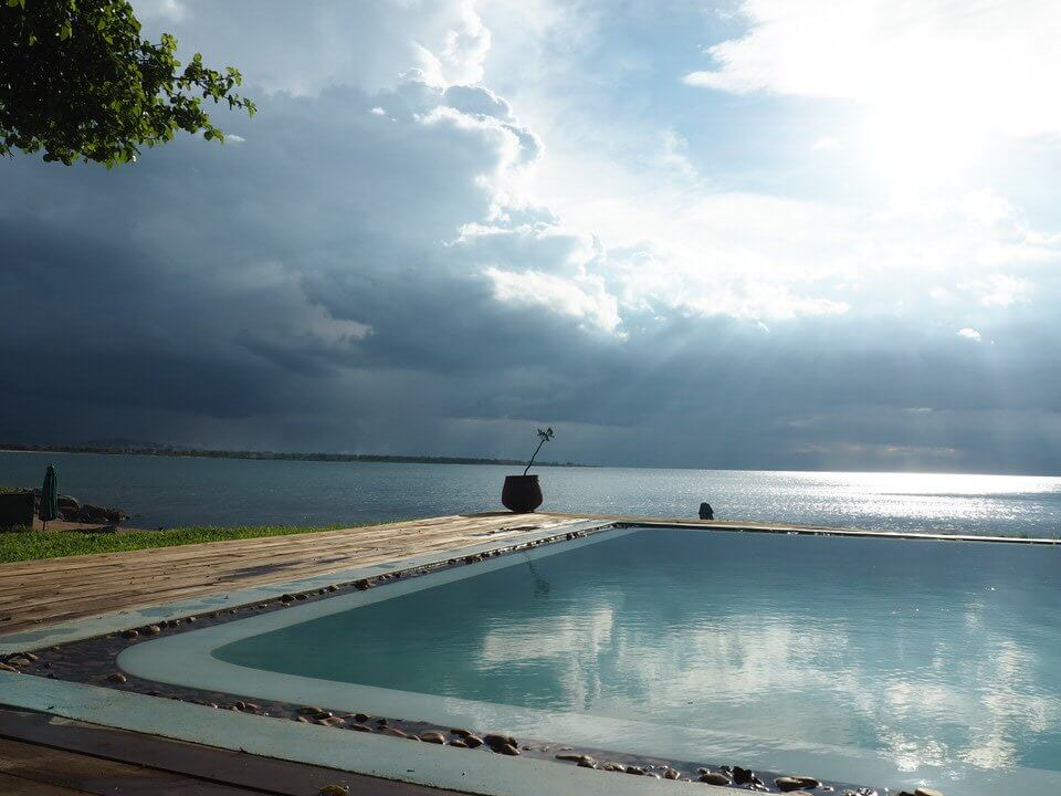 Swimming pool Lake Malawi