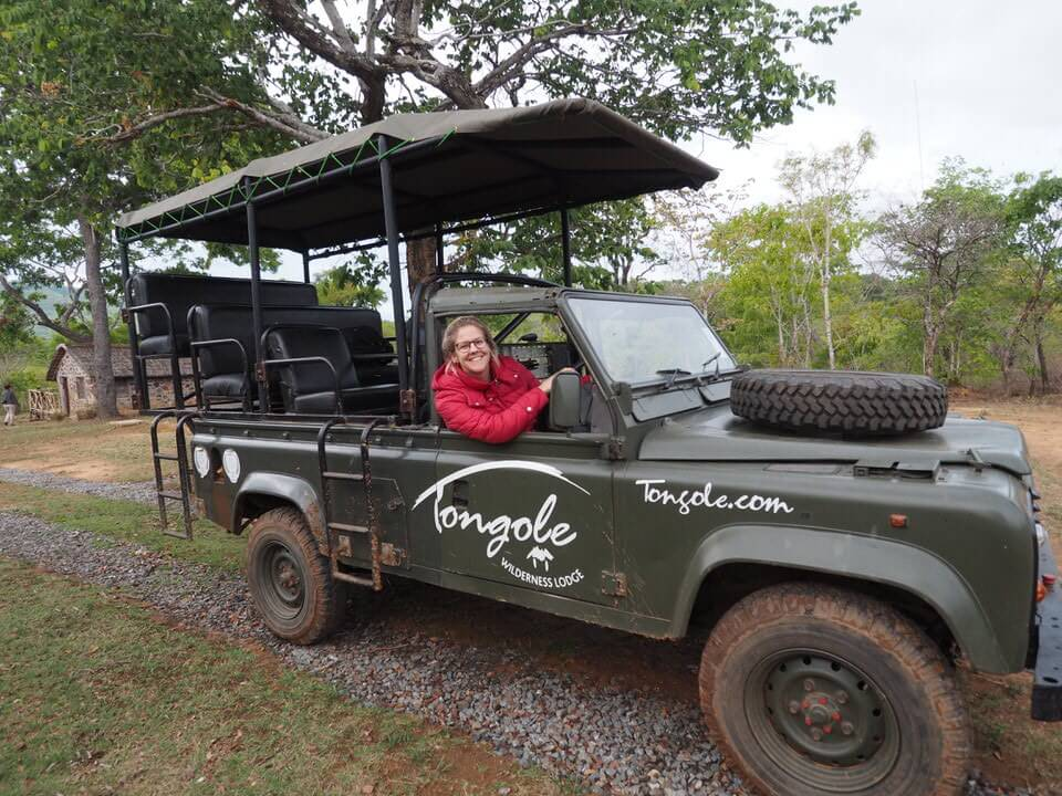 Driving round the Tongole Wilderness Lodge