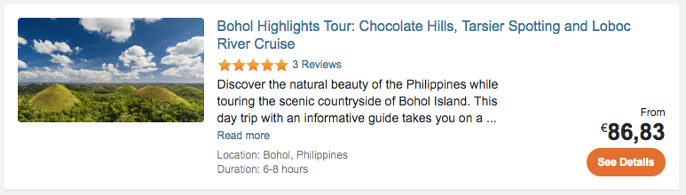Bohol Package Tour