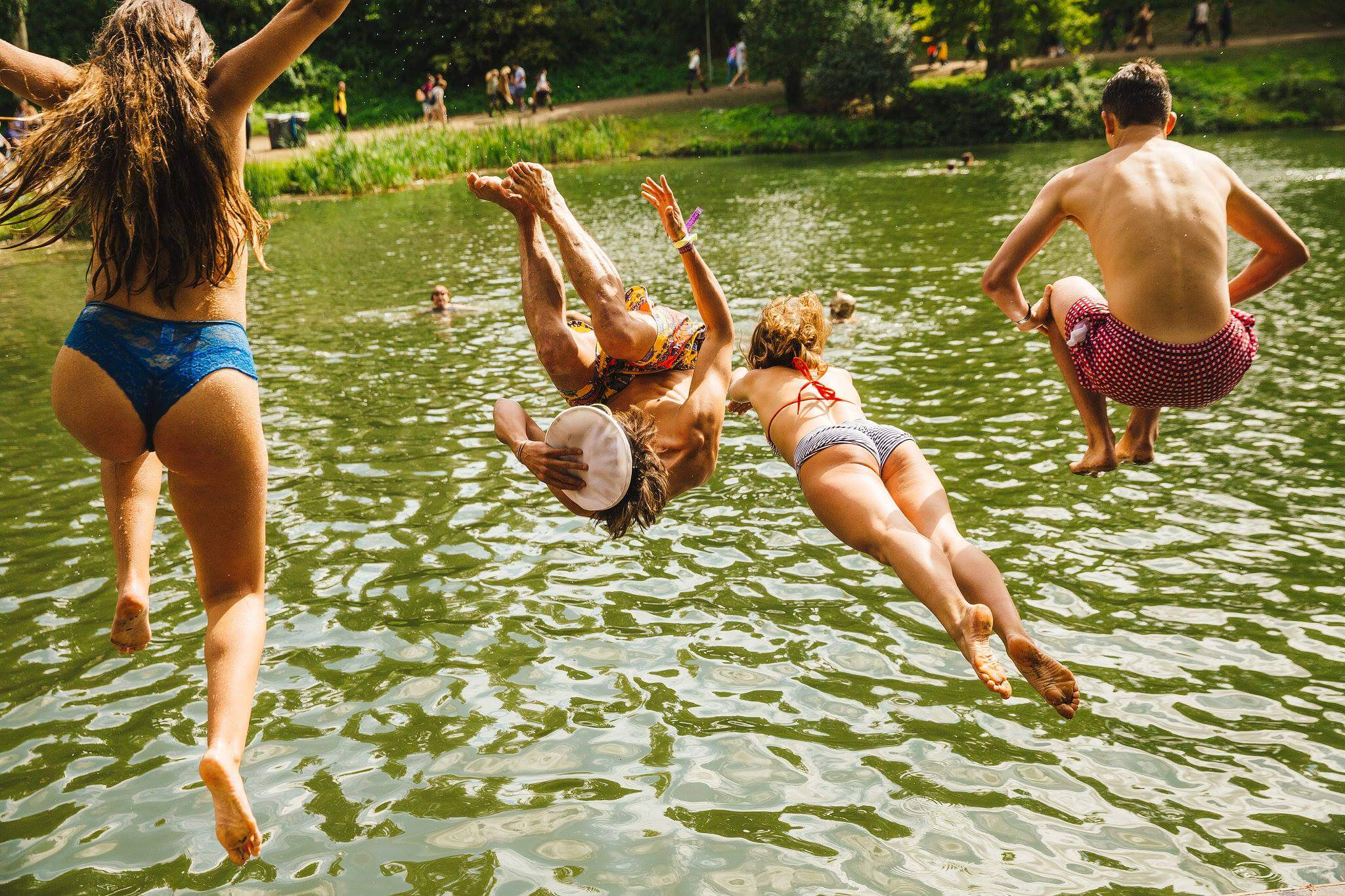 Jumping in at Wilderness Festival
