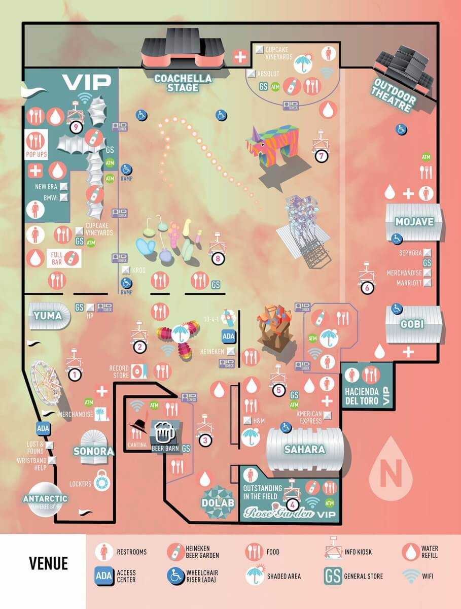 Map for Coachella