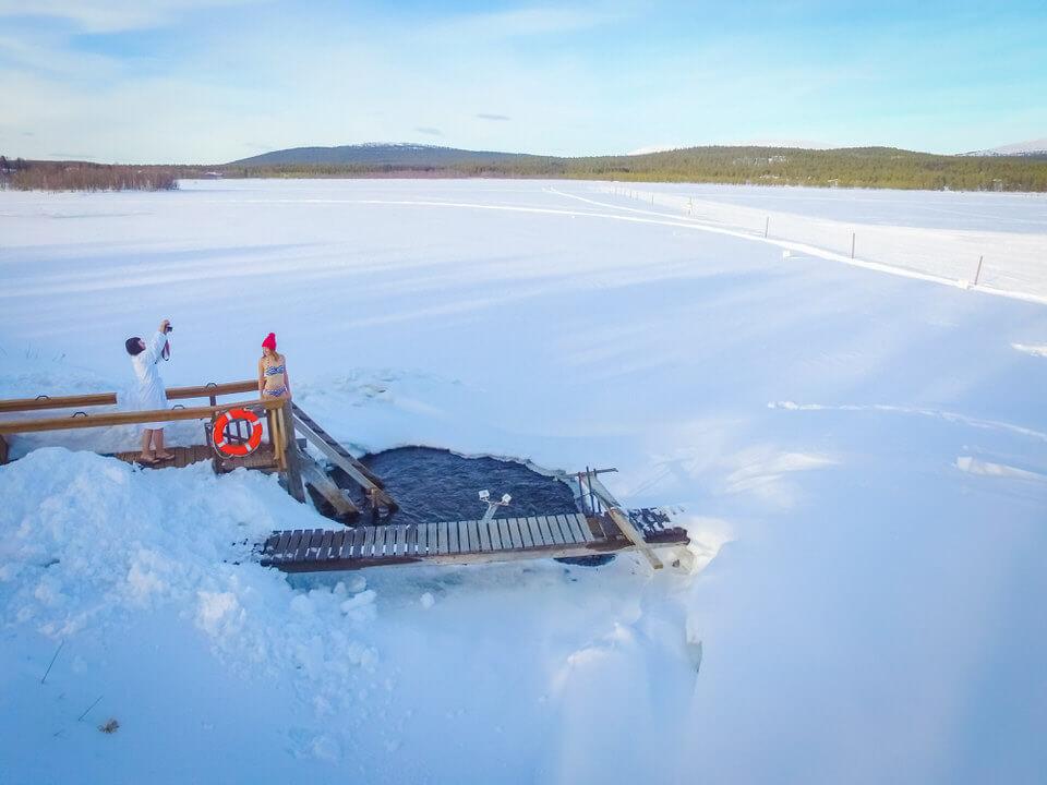 Finland ice hole
