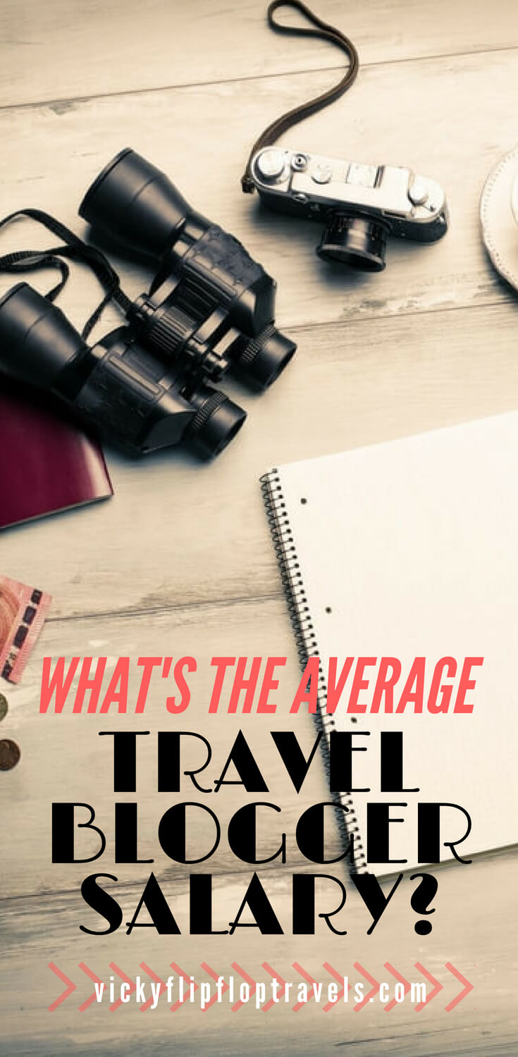 travel blogger salary
