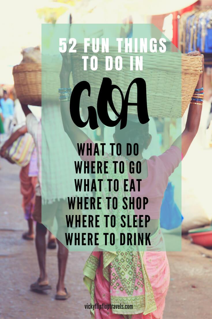 fun things to do in goa