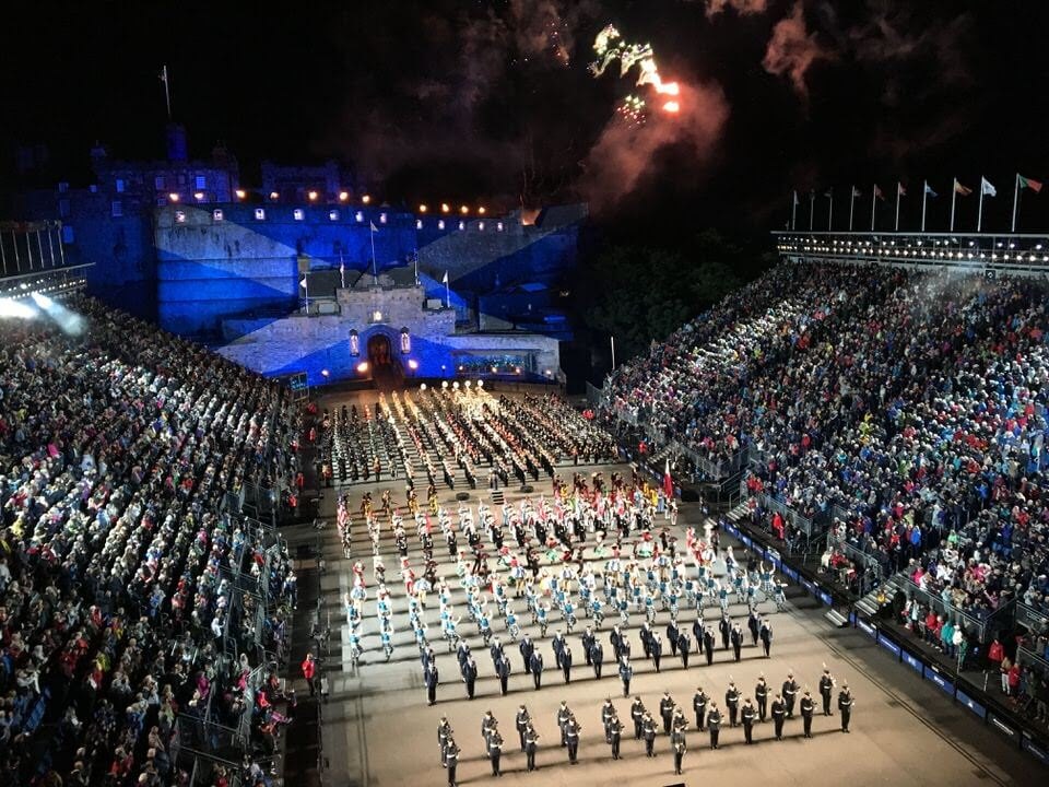 View of the Edinburgh Tattoo