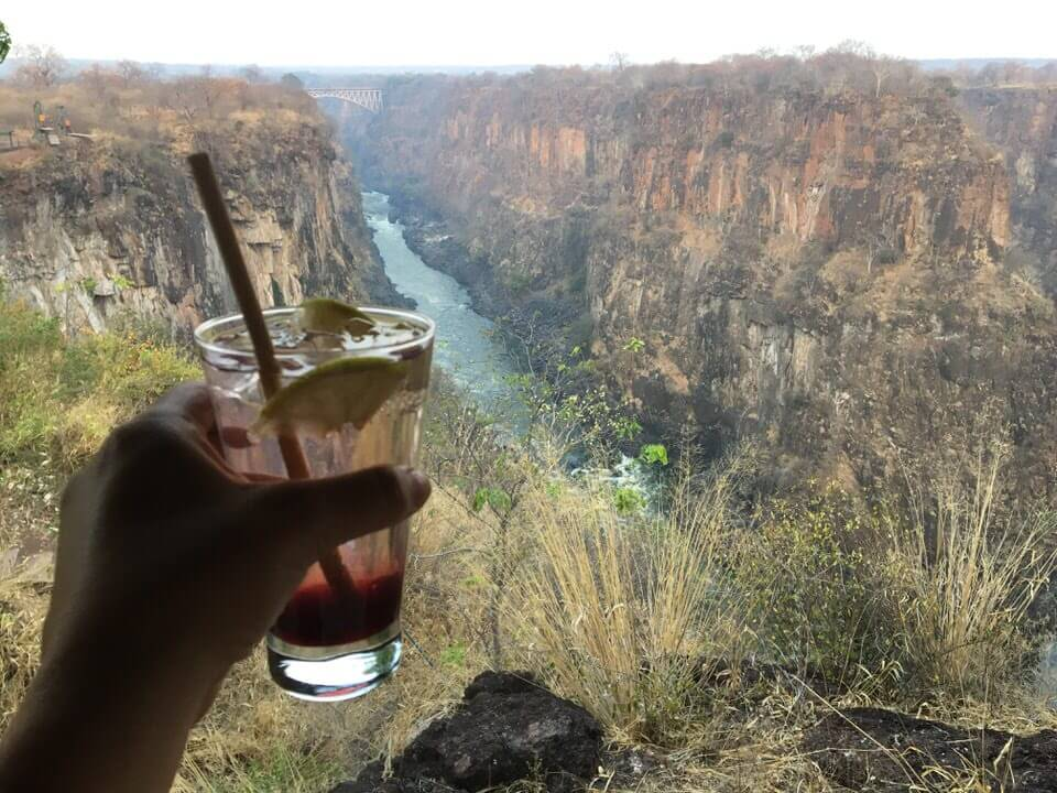 Gin at Victoria Falls