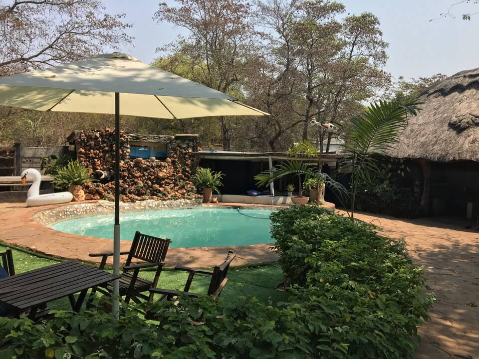 Backpackers in Victoria Falls