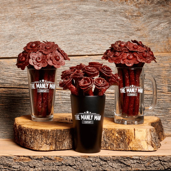 Flowers made from beef jerky