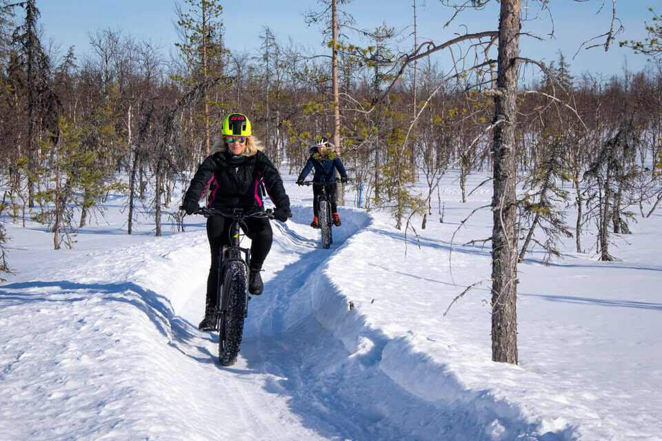 Fat biking in Yllas