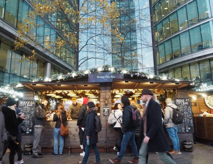 Christmas by the River Market, at London Bridge