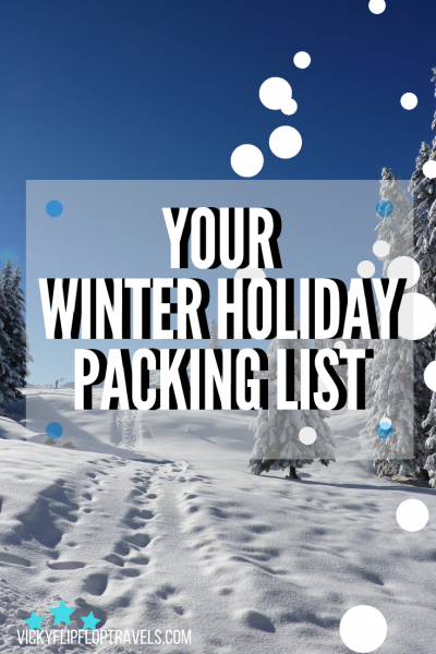 Packing list for a winter holiday