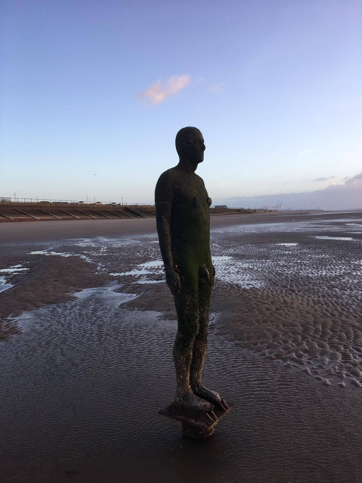 Gormley sculptures Crosby Beach