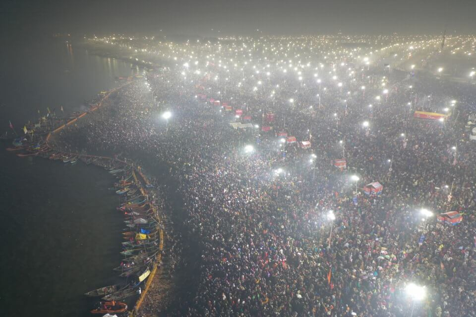 Kumbh Mela from above