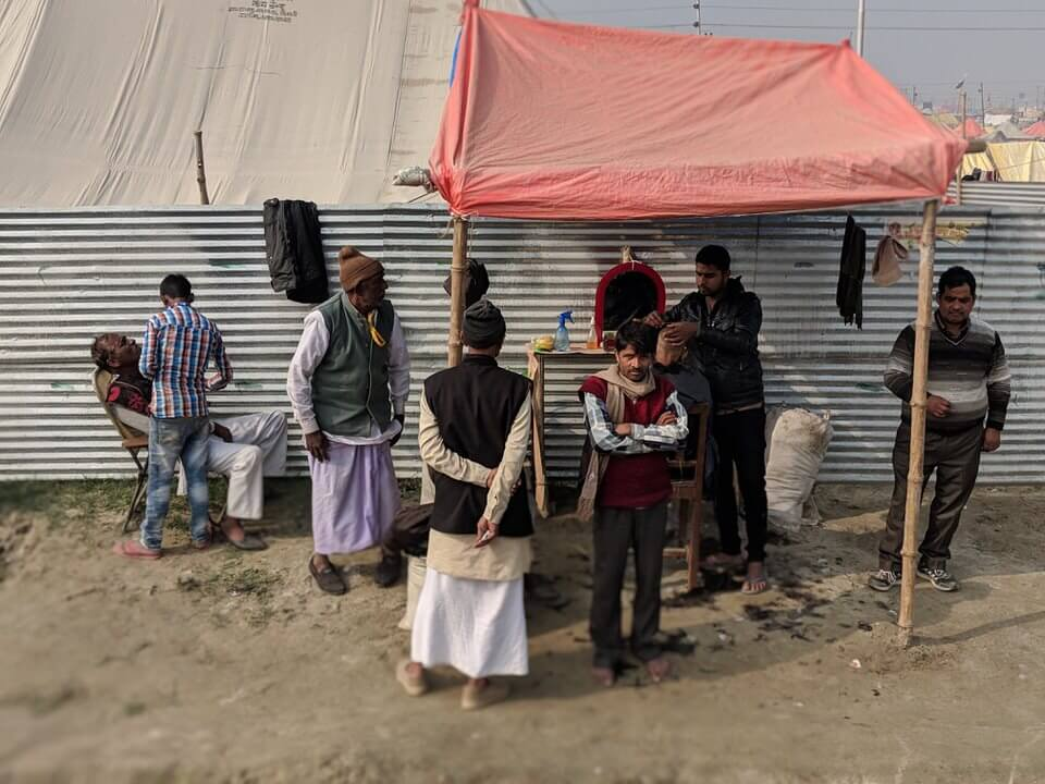 Barbers at the Kumbh Mela