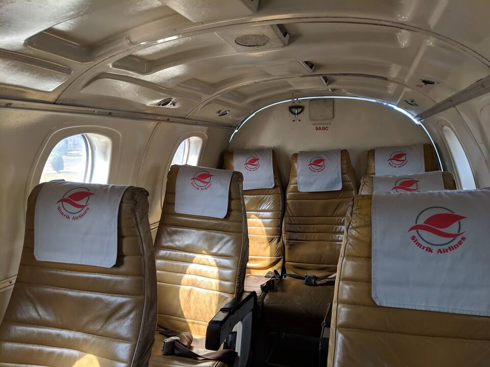 Flying from Pokhara to Kathmandu
