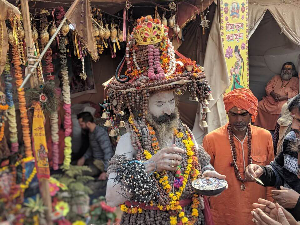 Sadhus at the Kumbh Mela