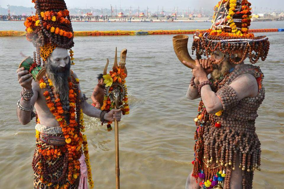 Bathing at the Kumbh Mela