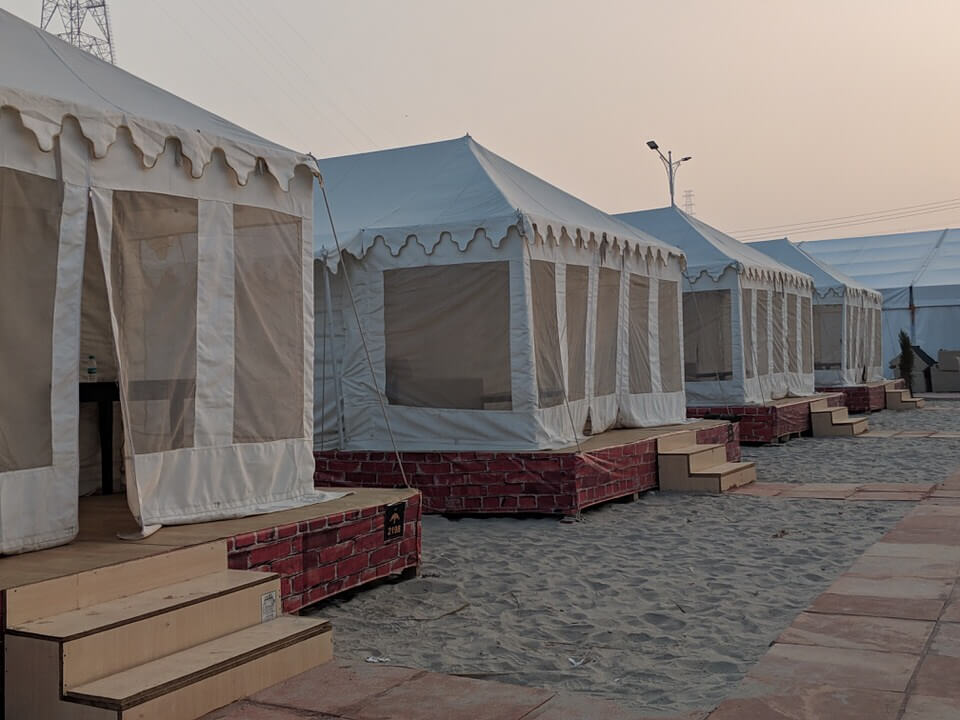 Our tents at the Kumbh Mela
