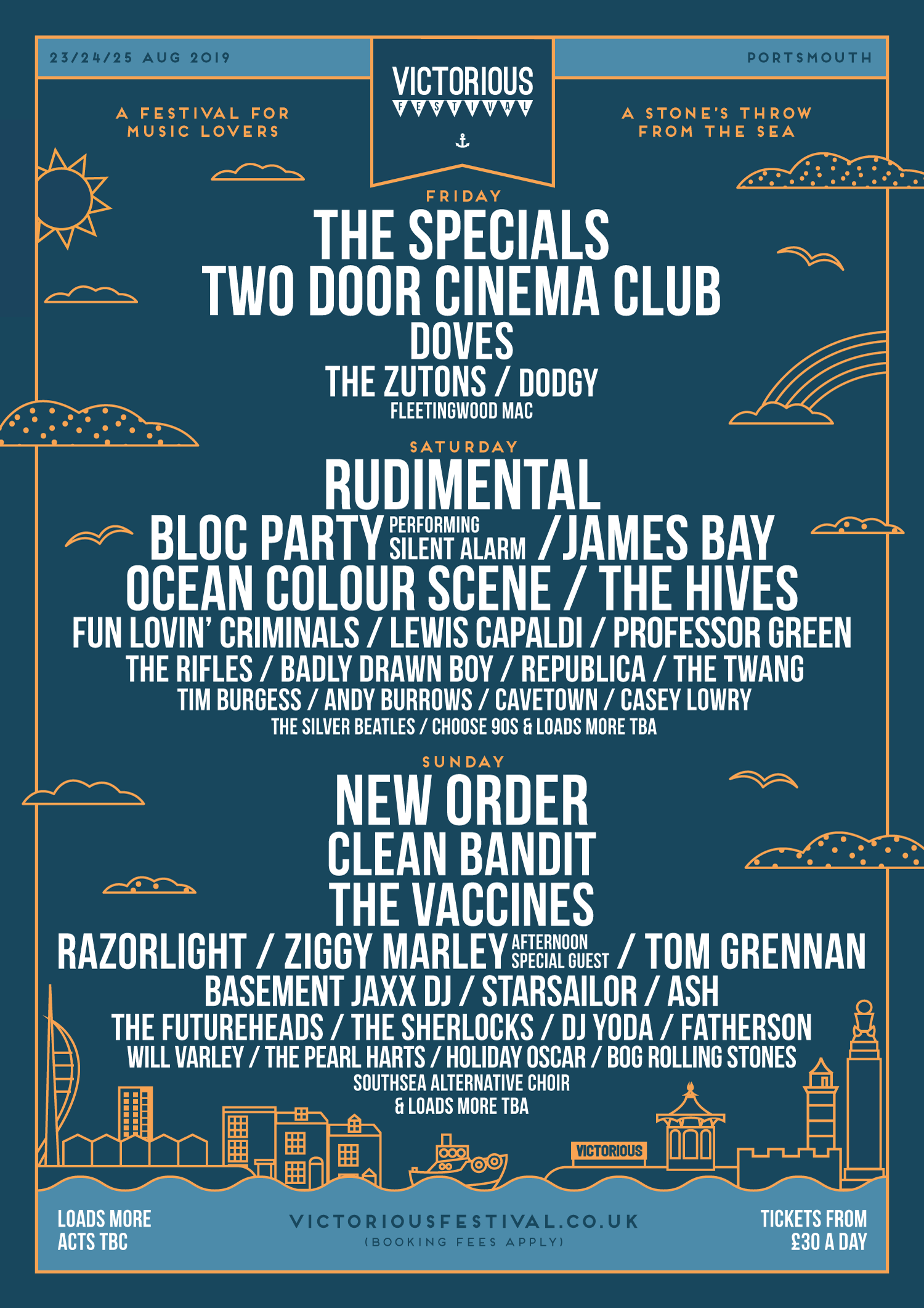 Line up for Victorious festival