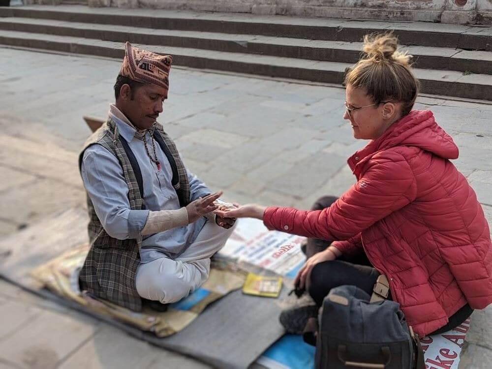 One week in Nepal palm reader
