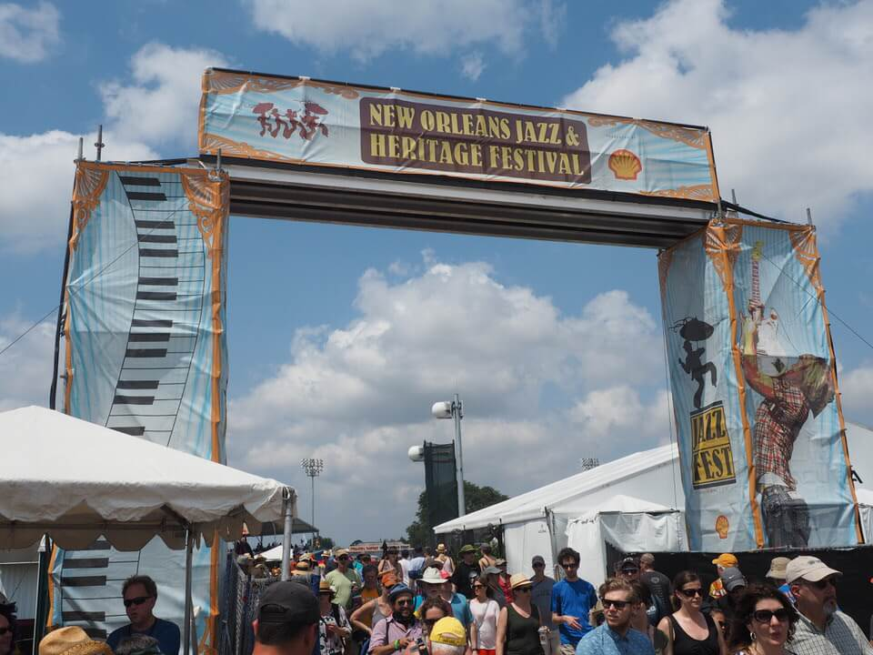 First time at the New Orleans Jazz Festival