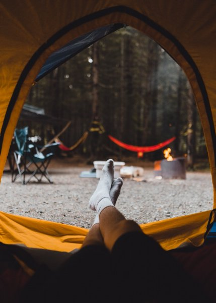 Mental health when camping