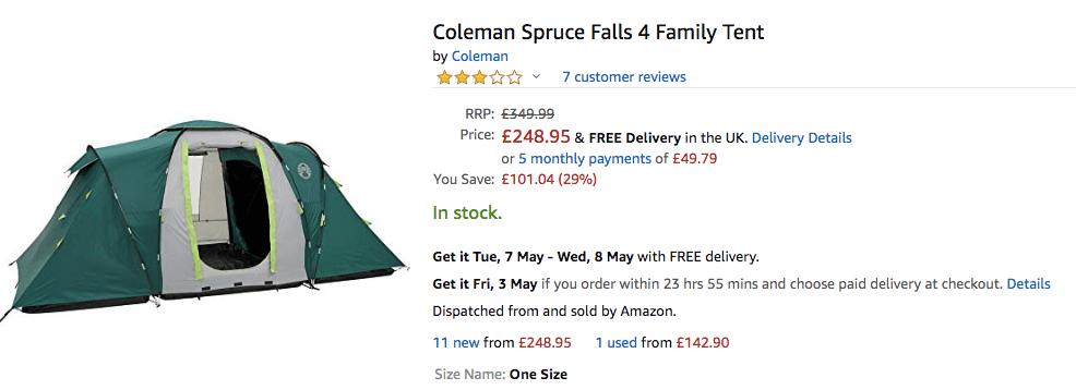 Tent for festivals