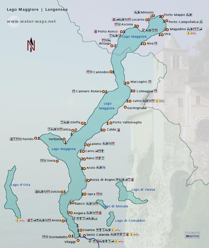 Map of Lake Maggiore
