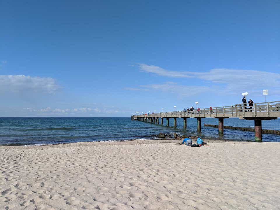Pier and promenade in germany