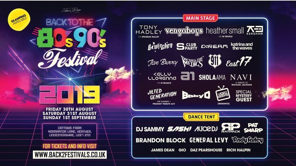 Line up for the 90s festival