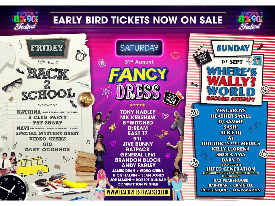The line up for 80s festival