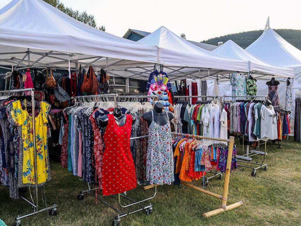 shopping at Dawson City Music Festival