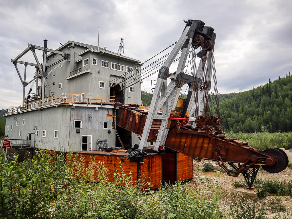 Dredging for gold in Dawson City
