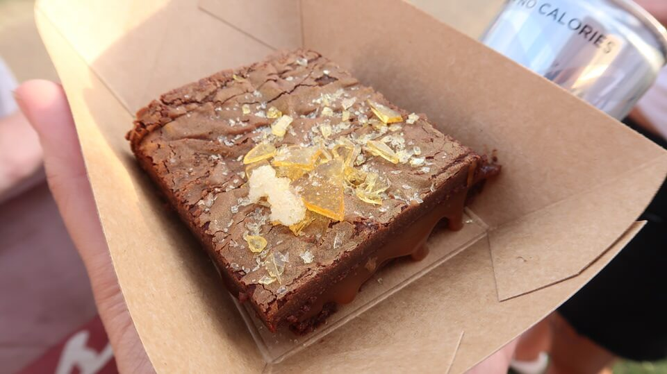 chocolate brownie in a box