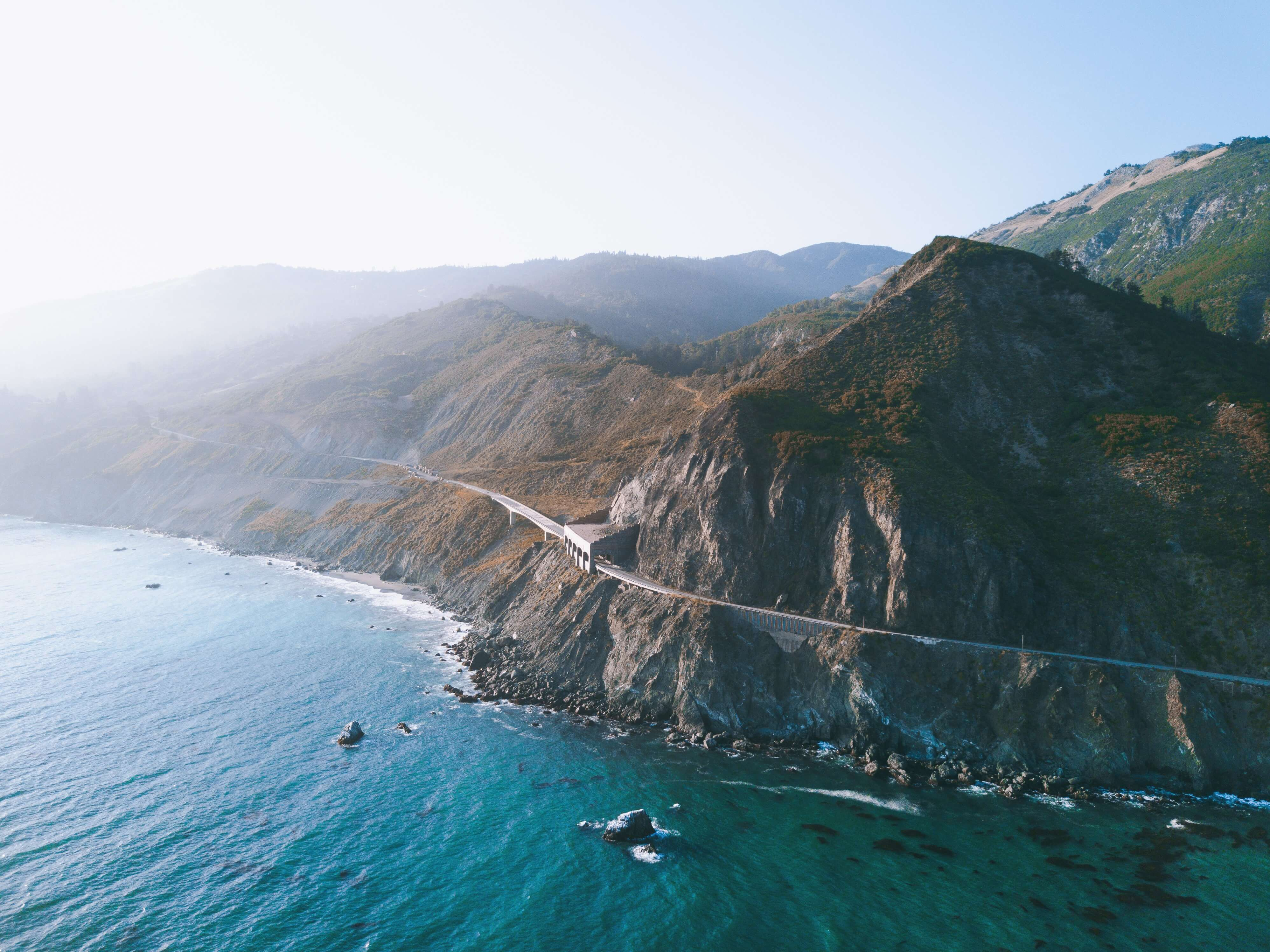 View of the Big Sur in California