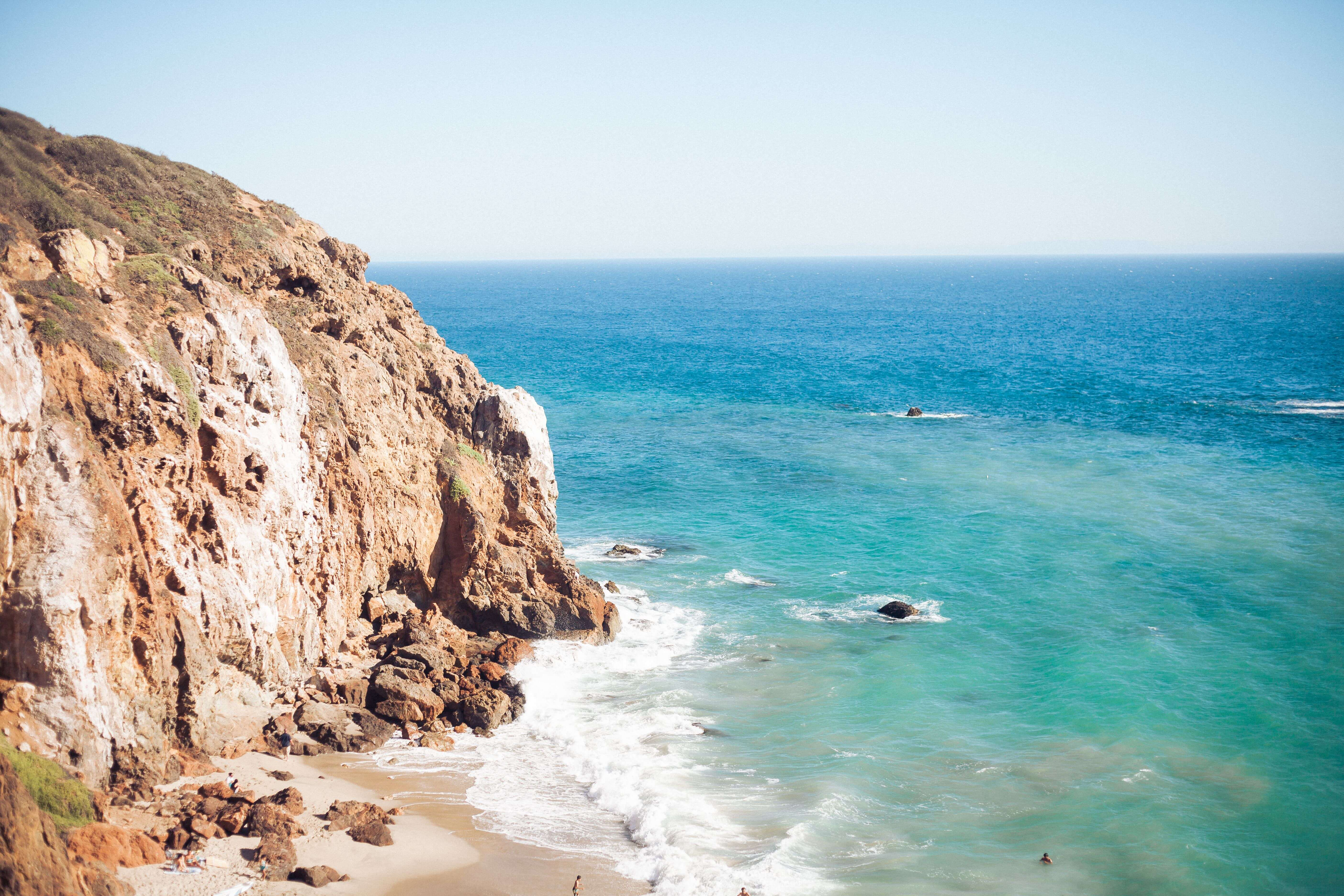 exploring malibu on a road trip