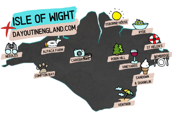 Map of Isle of Wight attractions