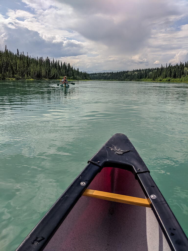 Canoe on the Yukon River