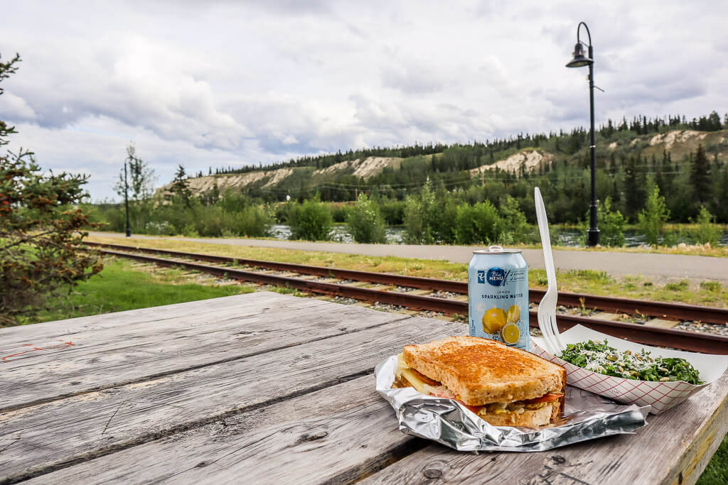 cheese toastie on the millennium trail