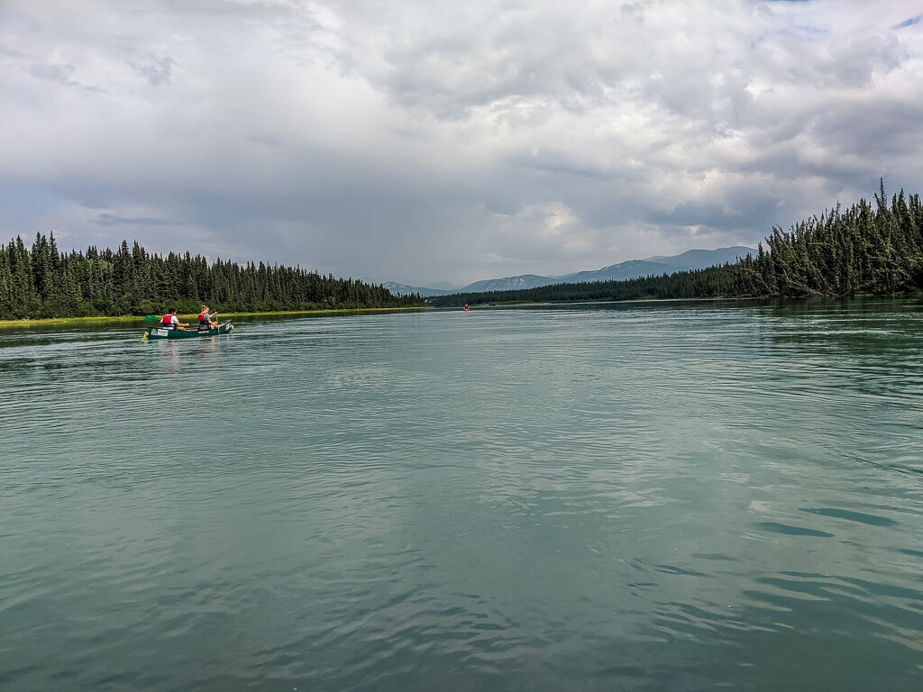 canoeing on the yukon river