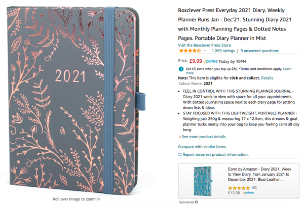 Diary for 2021