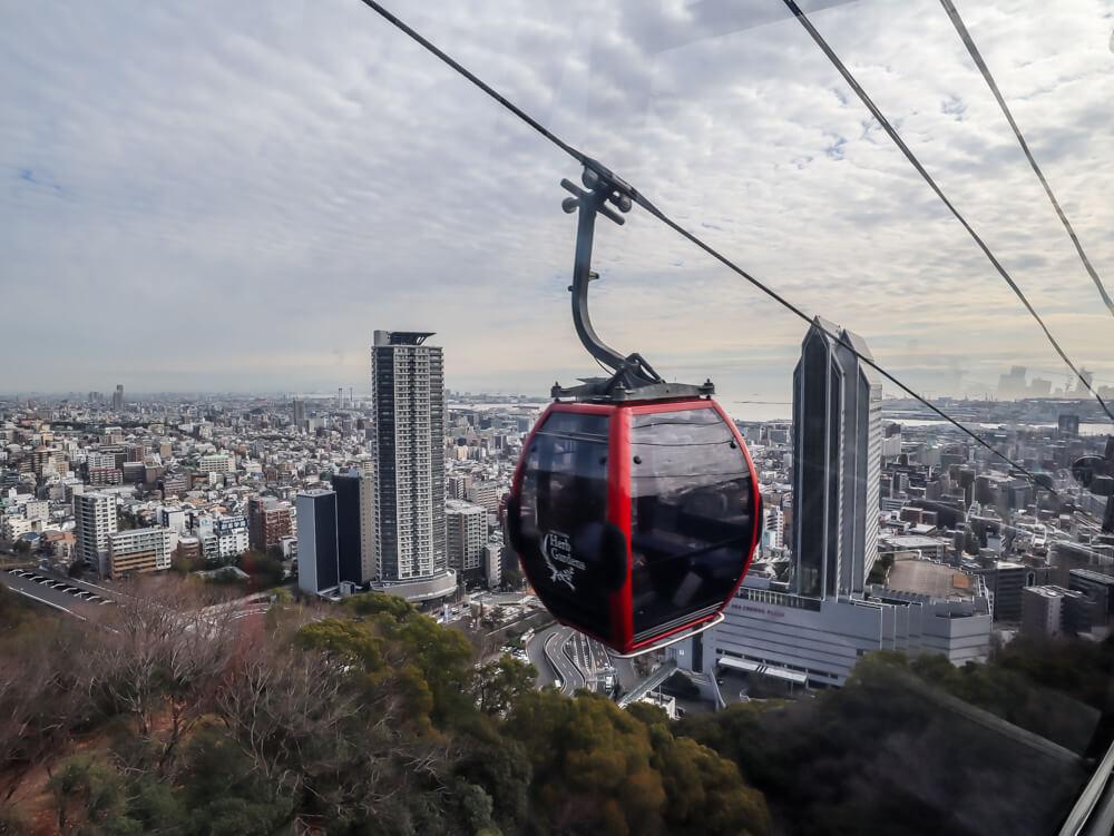 Gondola up to the Kobe Herb Garden