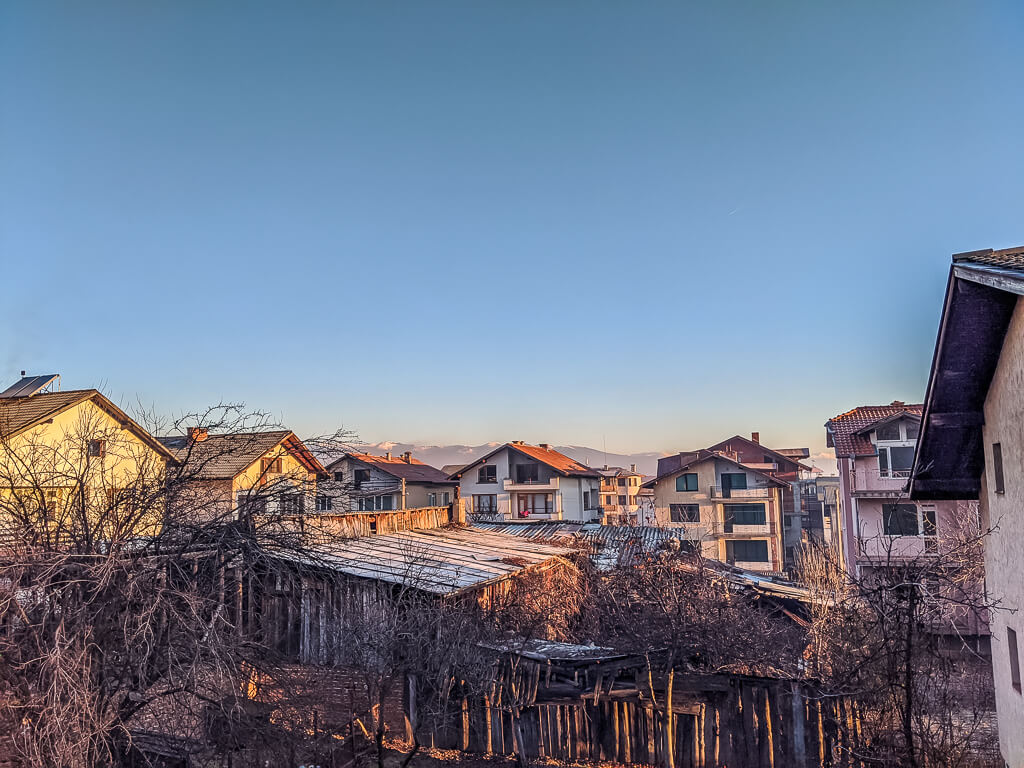 morning in bansko