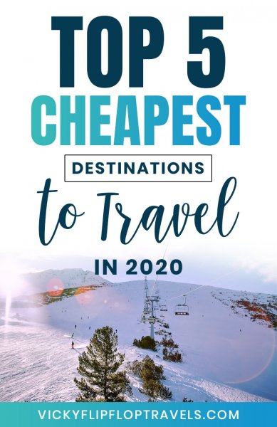 cheapest places to go 2020