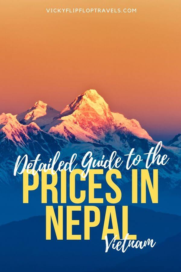 costs of nepal