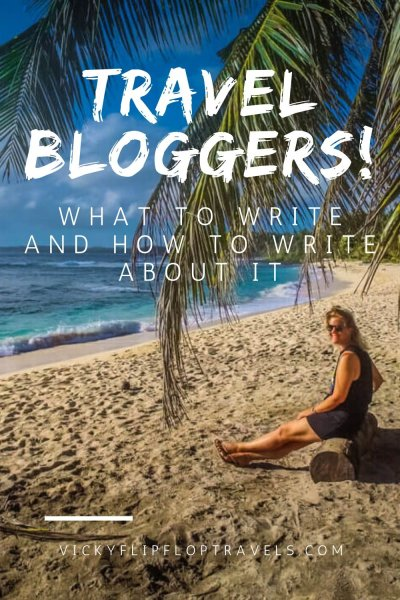 WRITING TRAVEL BLOG