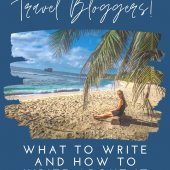 TRAVEL BLOGGERS WRITING