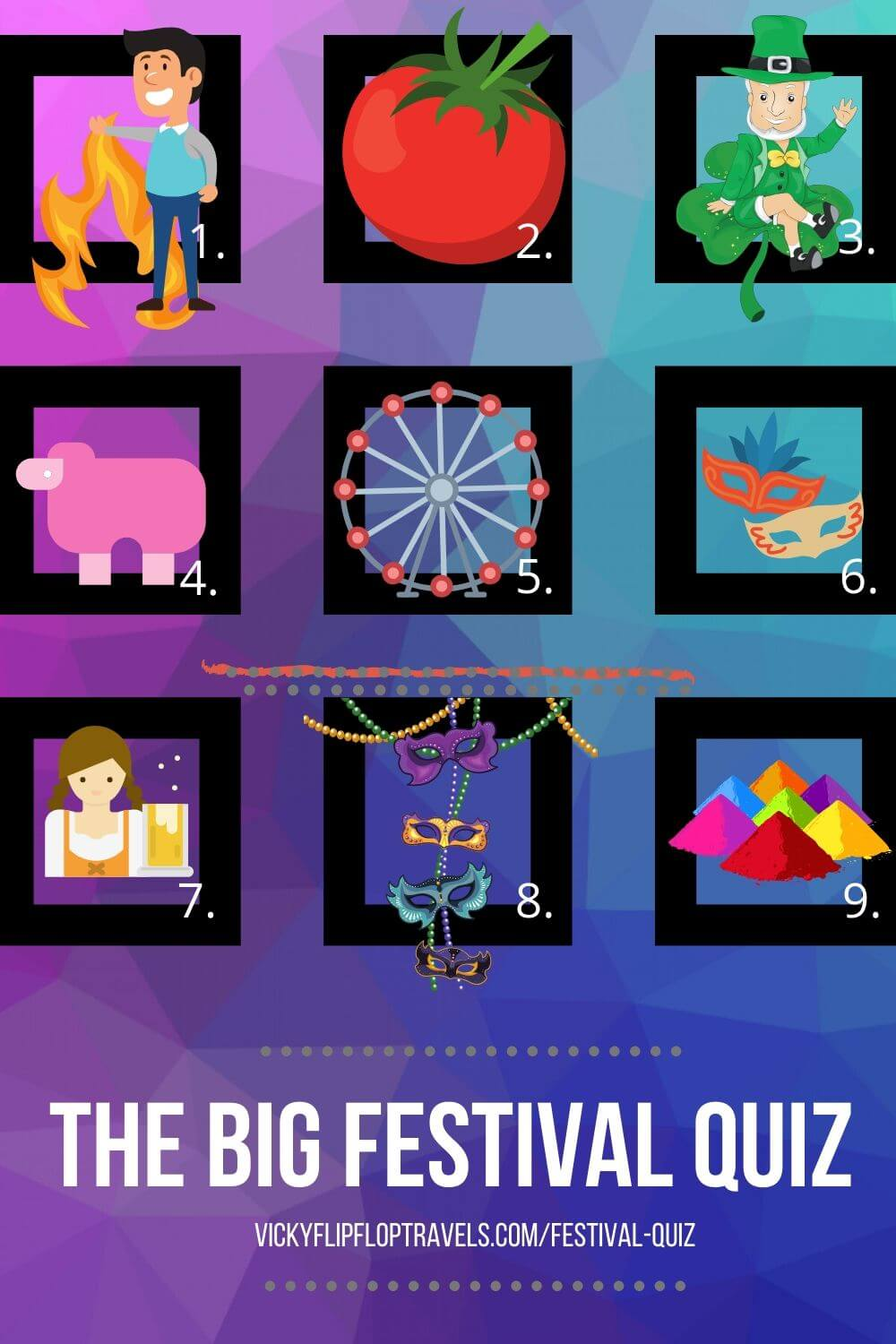 QUIZ ABOUT FESTIVALS