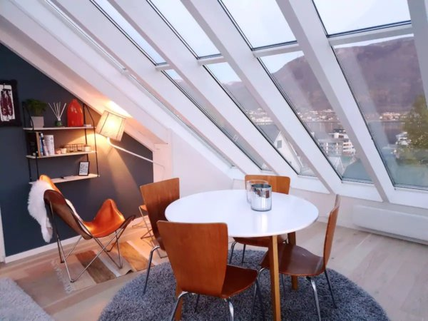Glass roof holiday apartment in Tromso
