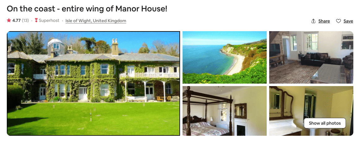 Isle of Wight unusual places to stay